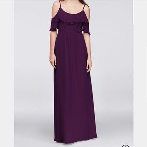 David's Bridal Dresses - Plum Bridesmaid Dress